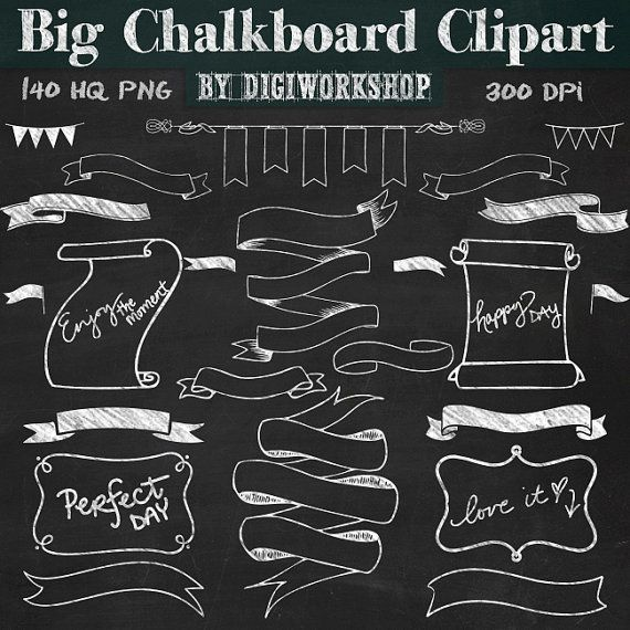 Blackboard clipart animated Best Chalkboard banners and on