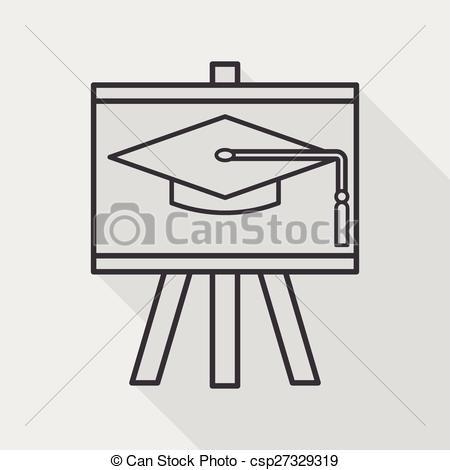 Blackboard clipart long The Vector of hat Art