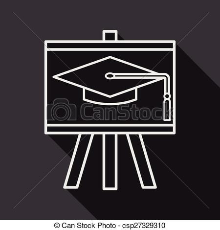 Blackboard clipart long On csp27329310 Art hat Clip