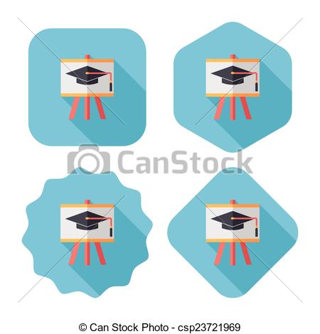Blackboard clipart long On csp23721969 Vector hat Art
