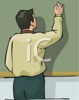 Blackboard clipart male teacher Writing  Teacher Chalkboard of