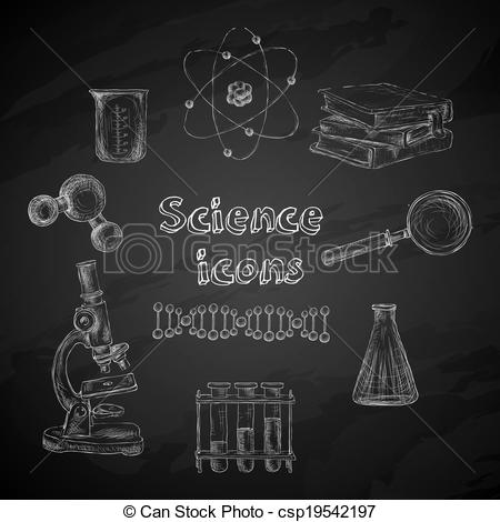Blackboard clipart science Science decorative EPS chalkboard Science