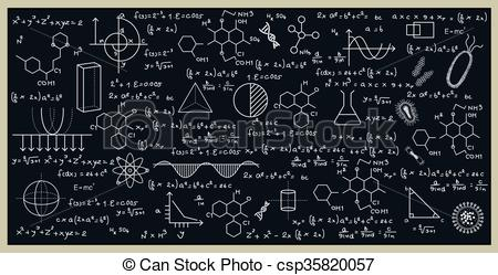 Blackboard clipart science With by of blackboard Vector