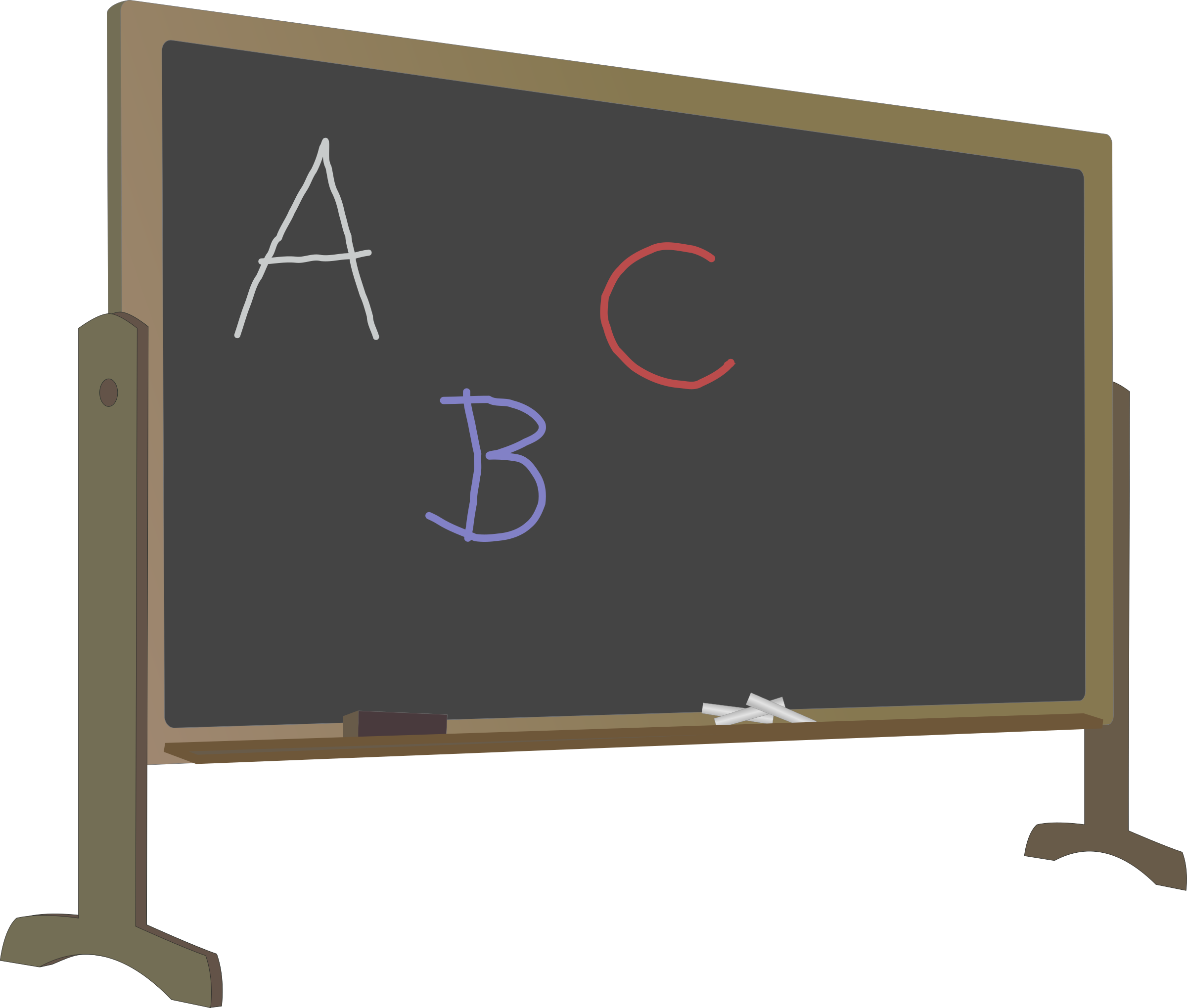 Blackboard clipart slate With Blackboard Stand and and