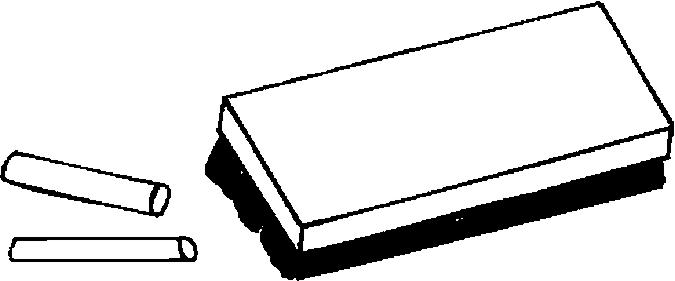 Blackboard clipart whiteboard duster Image Black and White