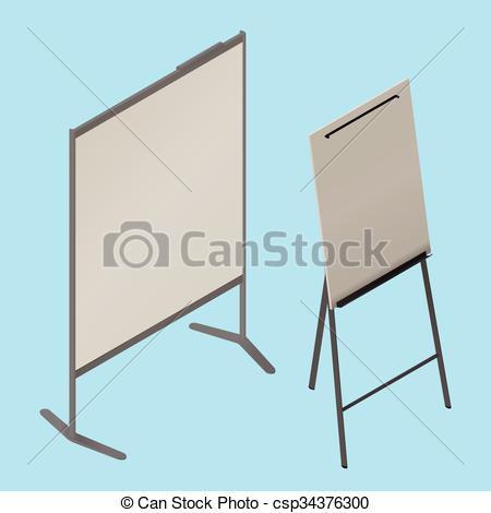 Blackboard clipart whiteboard easel Board vector isolated blank Office