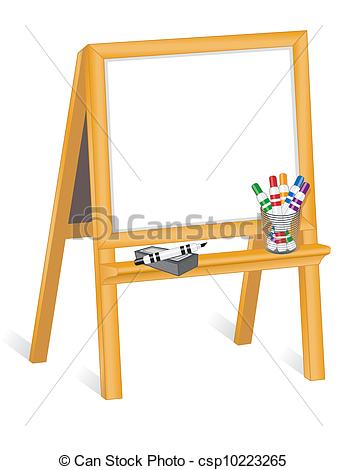 Blackboard clipart whiteboard easel On Clip child's  Easel