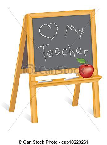 Blackboard clipart whiteboard easel Whiteboard Easel on child's Teacher