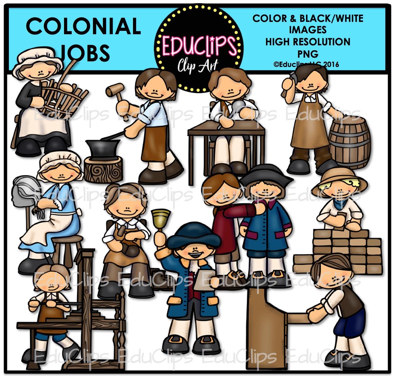 Pilgrim clipart colonial person #4