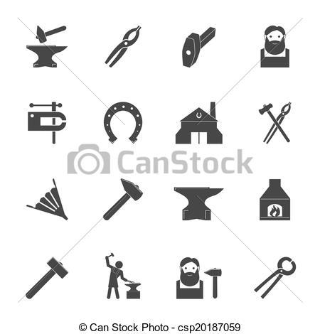 Blacksmith clipart logo Csp20187059 of Blacksmith Decorative blacksmith