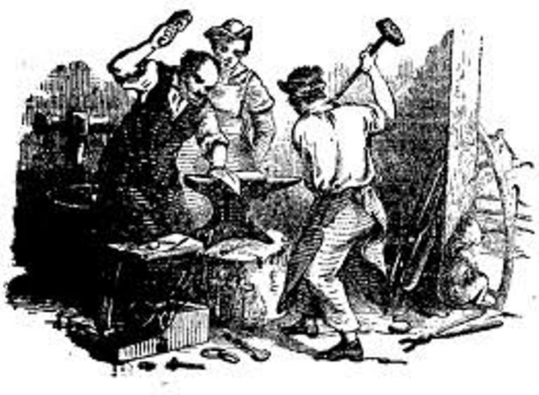 Blacksmith clipart pioneer Of Olden California's Golden West