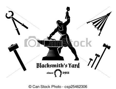 Blacksmith clipart tongs Vector  and and blacksmith