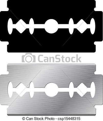 Razorblade clipart Clip Art shape csp15448315 Vector