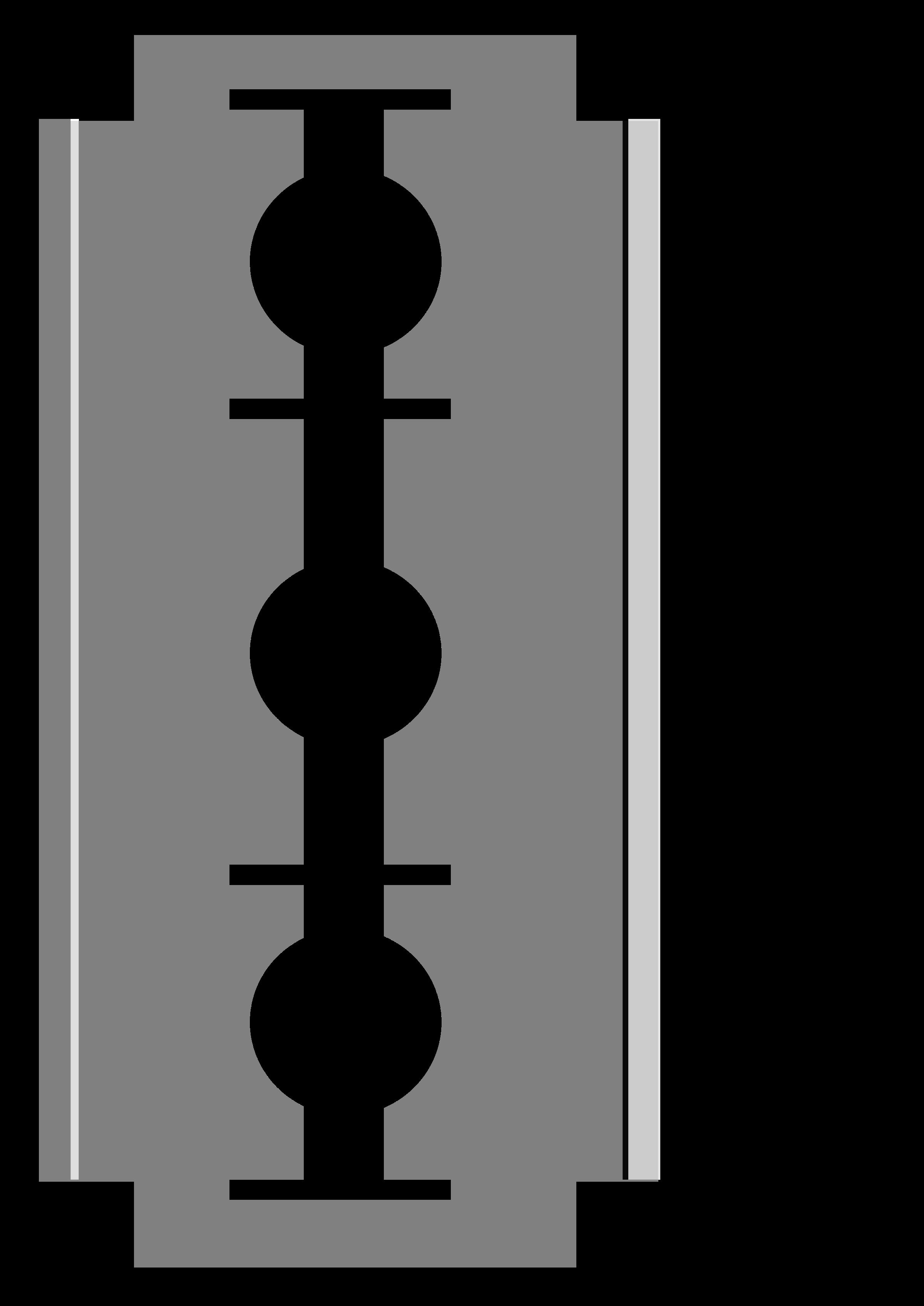 Blade clipart black and white Razor blade Clipart blade Razor
