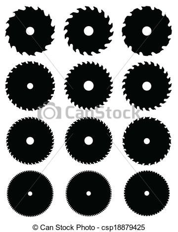Blade clipart circular saw Silhouettes of saw  saw
