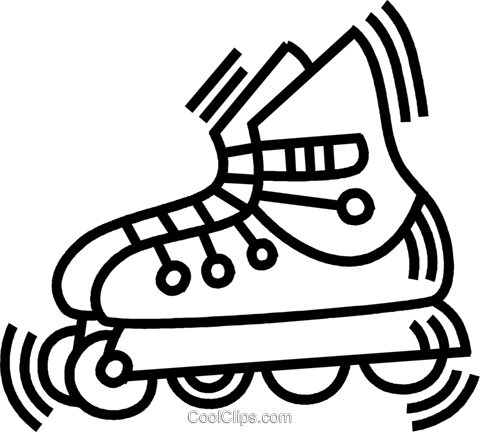 Blade clipart drawing Free Roller Roller blade clipart