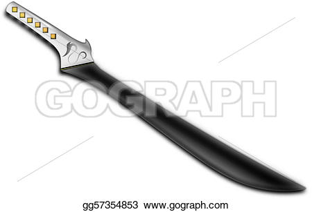 Blade clipart drawing Stock sword black Clipart Stock