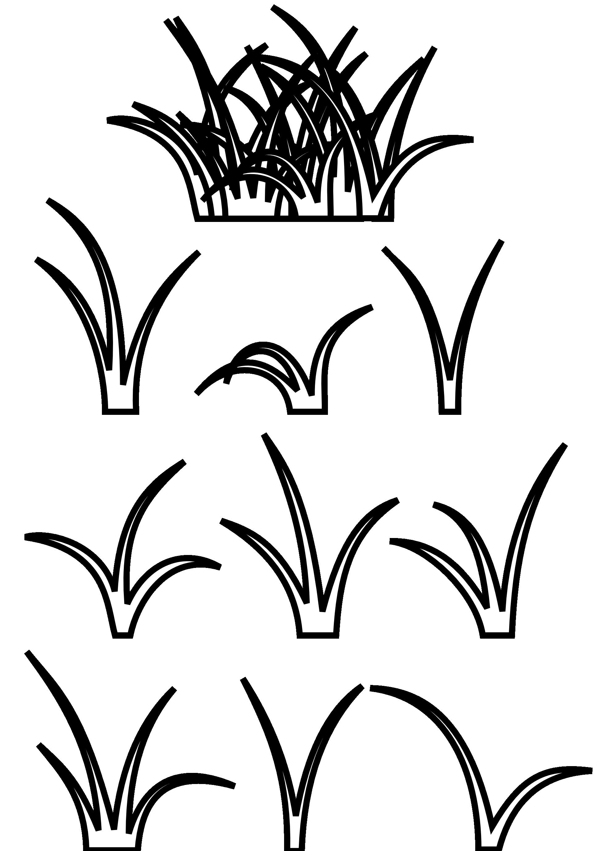 Sea Grass clipart black and white #3