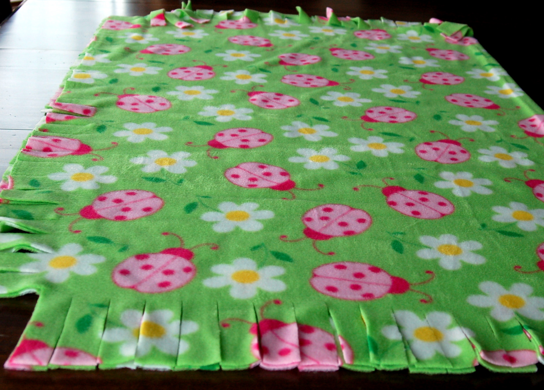Blanket clipart fleece Fringed Creations Open Dot Fleece