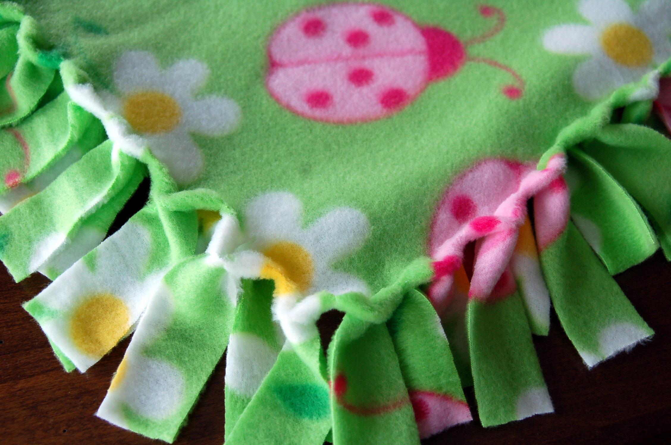 Blanket clipart fleece Fringed Creations And Dot Fleece