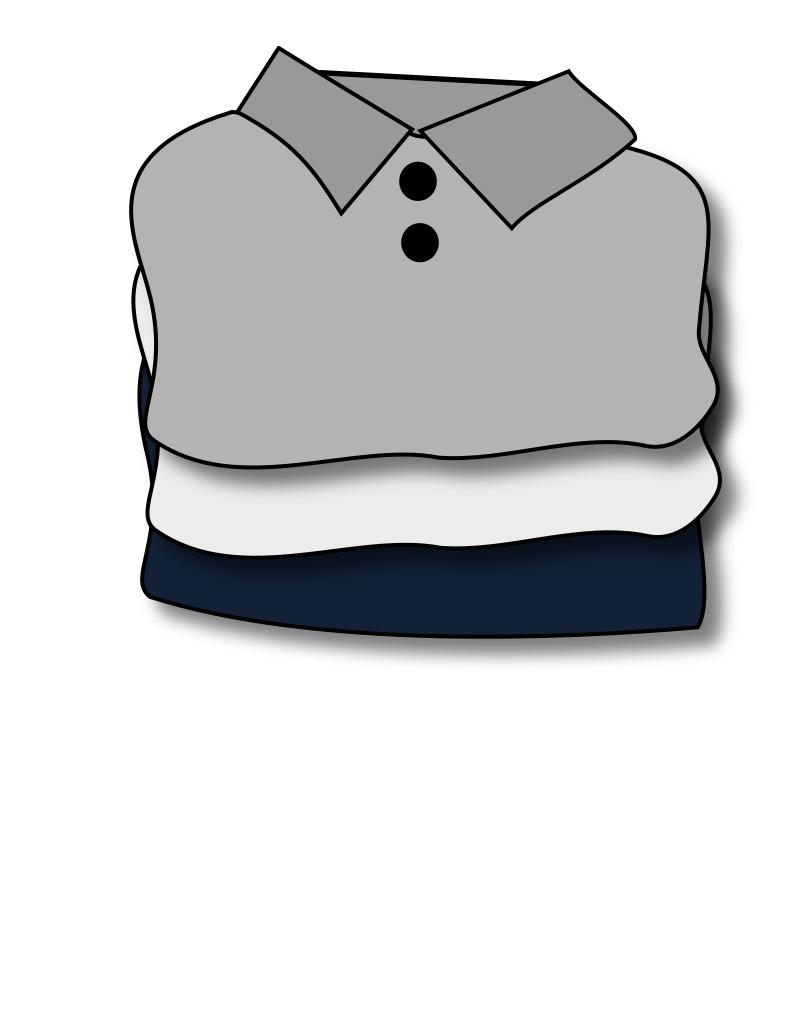 Towel clipart folded clothes Clothes clothes collection Clipart Folded