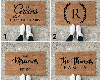 Blanket clipart welcome mat Personalize Door mat Welcome Doormat