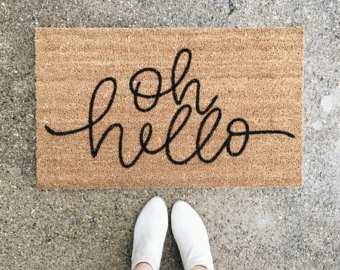 Blanket clipart welcome mat Hand Etsy welcome cute hello