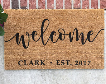 Blanket clipart welcome mat Hand Welcome mat Doormat //