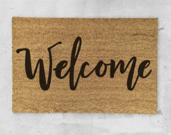 Blanket clipart welcome mat Painted Doormat Doormat Welcome Door