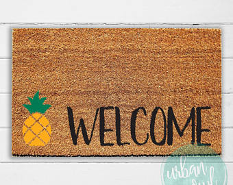 Blanket clipart welcome mat Welcome doormat Etsy Welcome Outdoor