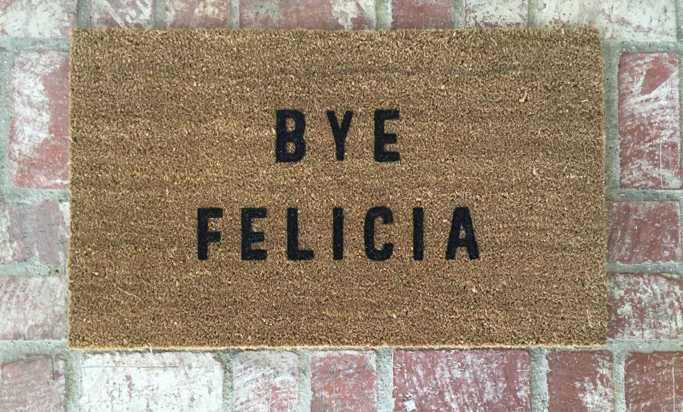 Blanket clipart welcome mat Bye The Doormat  Doormat