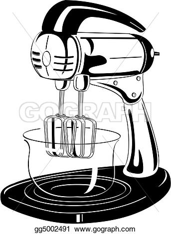Blender clipart vintage kitchen Vector vintage Stock and