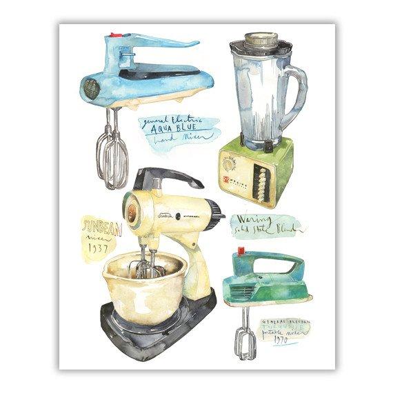 Blender clipart vintage kitchen Illustration  and kitchen blender