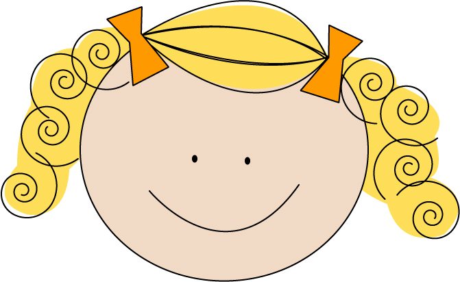 Blonde clipart Art with Girl Clipart Clipart