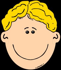 Blonde clipart Boy Clip Smiling Boy Clip