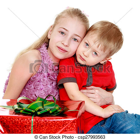 Blonde clipart brother Sister  brother sister Stock
