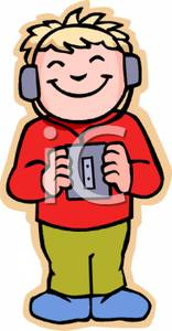 Blonde clipart brother A Colorful Cartoon  Listening