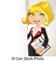 Blonde clipart businesswoman Business woman  Blond