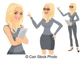 Blonde clipart businesswoman Art Glasses vector Blonde and