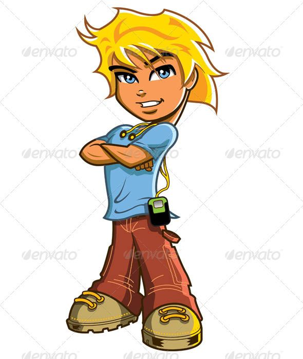 Blonde clipart cartoon Boy Headphones 590x700 boy Blonde