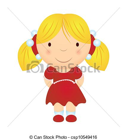 Blonde clipart cartoon Cartoon christmas vector smiling costume