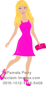 Blonde clipart cartoon A a Image a Purse