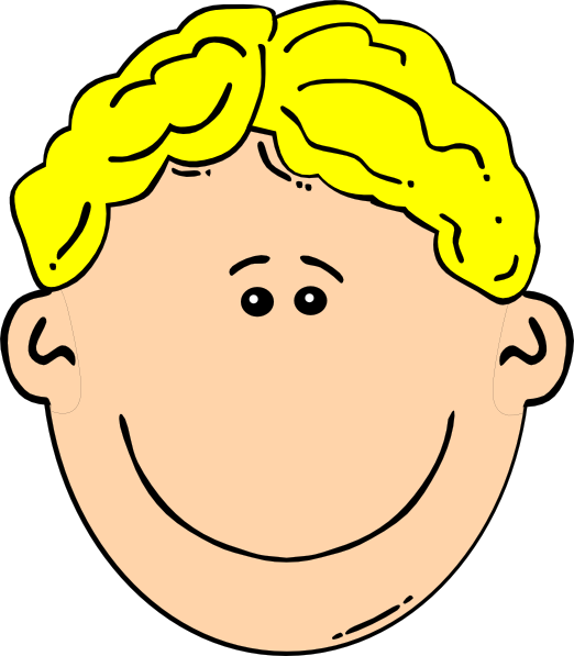 Blonde clipart face Clker at Art this image