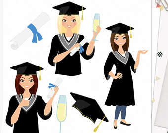 Blonde clipart glass Png diploma character grad clipart