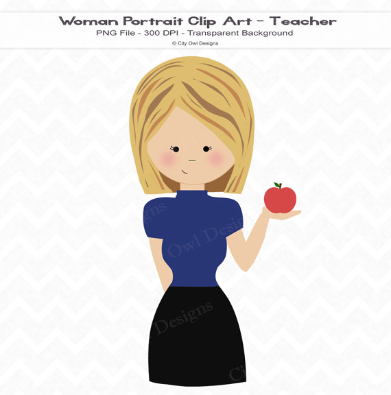 Blonde clipart happy teacher Similar Commercial and Items to