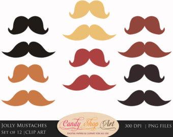 Blonde clipart mustache Clipart Clip Clipart Gentleman Instant