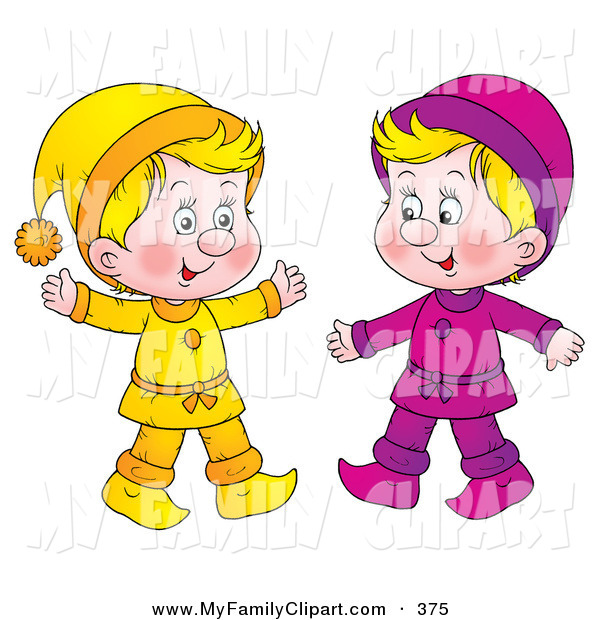 Blonde clipart two Dressed Yellow Blonde in Two