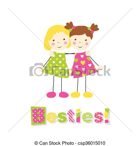 Blonde clipart two Of Clip girls girl little