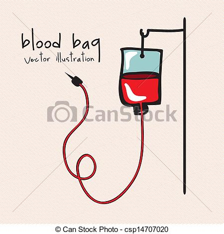 Blood clipart blood bag Of blood vector over