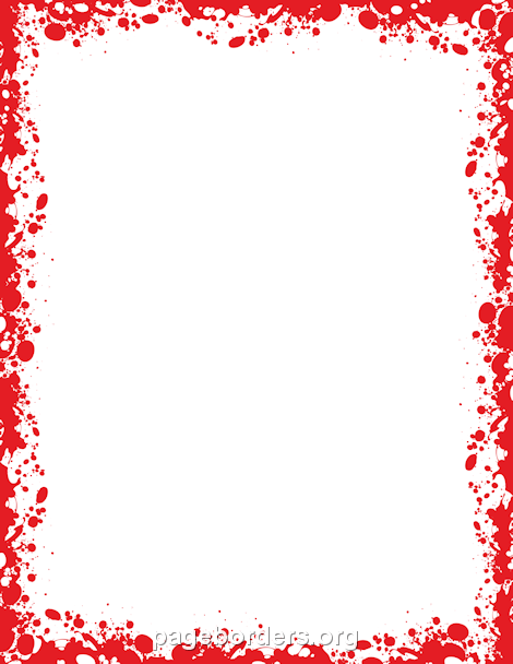 Zombie clipart border Border Border and Page Blood